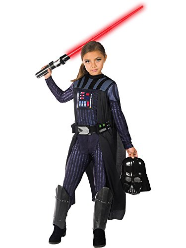 Rubie's Girls Star Wars Classic Darth Vader Costume, Large