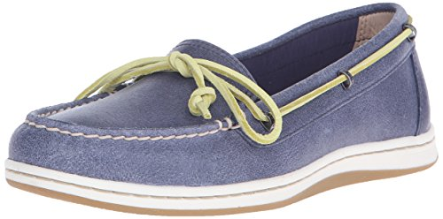 Blue Leather Boat (Sperry Top-Sider Women's Jewelfish Boat Shoe, Navy, 8.5 M US)