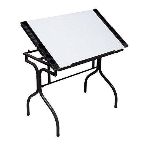 Studio Designs Folding Modern Top Adjustable Drafting Table Craft Table Drawing Desk Hobby Table Writing Desk Studio Desk, 35.25
