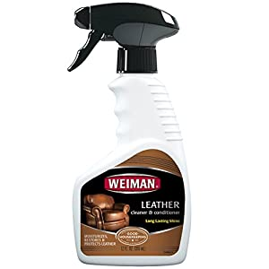 Weiman Leather Cleaner & Conditioner - Gentle Formula Cleans, Conditions and Restores Leather and Vinyl Surfaces – UV Protectants Help Prevent Cracking or Fading of Leather More - 12 fl. oz.