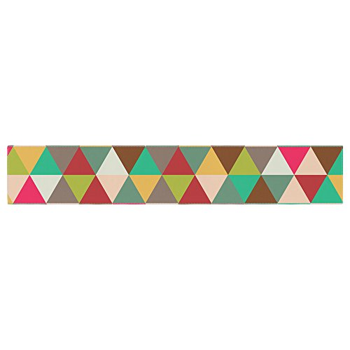(Kess Original Autumn Triangle Spectrum Multicolor Geometric Table Runner)