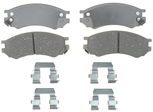 ACDelco 14D507CH Advantage Ceramic Front Disc Brake Pad Set with Hardware ()