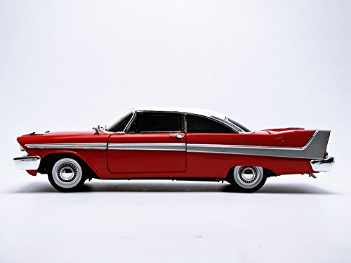 1/18 '58 Plymouth Fury Stephen King Christine Die Cast Movie Car, Multicolored (AWSS102) 1