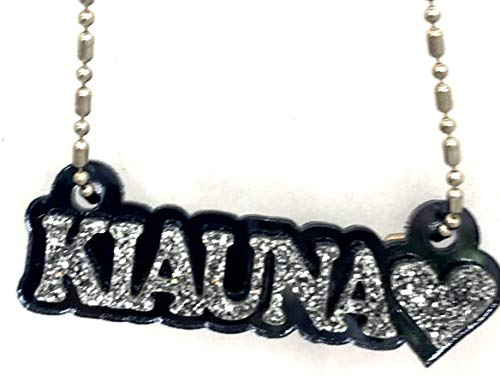 Mirror Mania Personalized Name Plate Custom Name Necklace Nameplate Name Laser Cut, Diamond Look, Made to Order Any Name - Dazzling and Stunning!