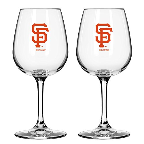 MLB San Francisco Giants Game Day Wine Glass, 12-ounce, 2-Pack