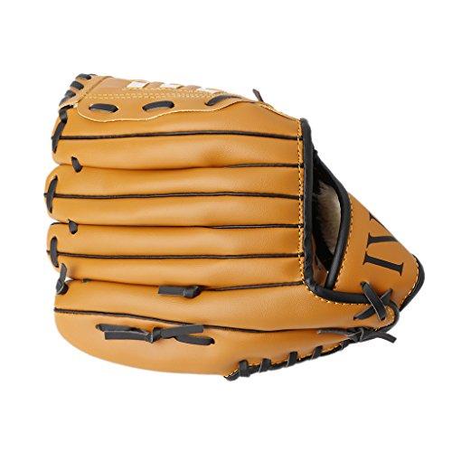 Softball Catching Videos (ULKEME 10.5'' Left Hand Baseball Glove Softball Mitts Training Practice Sports Outdoor)