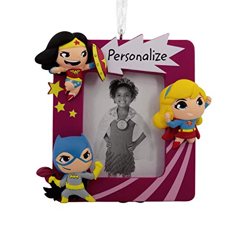 Hallmark Christmas Ornaments, DC Super Friends Heroines Personalized Picture Frame Ornament