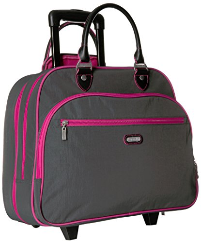 Baggallini Carryon Rolling Travel Tote, Charcoal, One Size