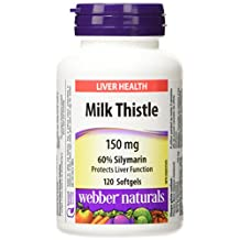 Webber Naturals Milk Thistle 60-Percent Silymarin Extract Capsule, 150mg