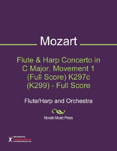 Flute & Harp Concerto in C Major, Movement 1 (Full Score) K297c (K299) - Full Score Sheet Music (Flute/Harp and Orchestra)