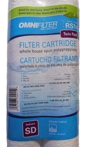 OmniFilter RS14-SD Whole House Filter Replacement Cartridge (2-Pack)