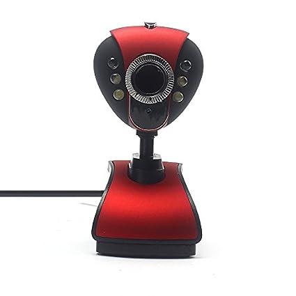 Cebbay Cámara Web USB 2.0 HD Micrófono LED Adecuado para PC portátiles La resolución más Alta