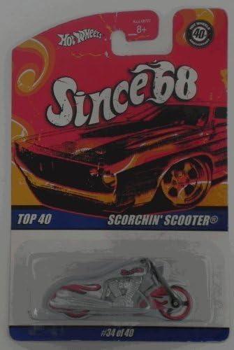 Hot Wheels Lexmark Scorchin/' Scooter black w//flames #27343