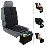Car Seat Protector with Trash Can - Waterproof Car Seat Pad and Collapsible Trash Bin - Adjustable Auto Seat Protector Under Car Seat Designed to Fit All Vehicles + Bonus Trash Liners by BabySeater