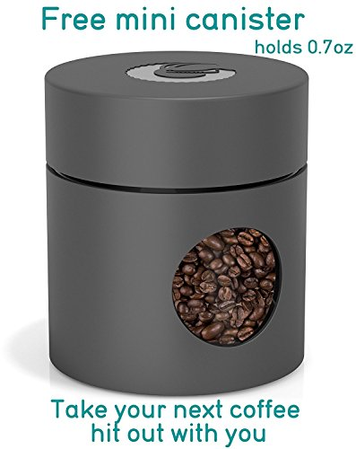 -[ Large Stainless Steel Cafetiere Coffee Maker - Vacuum Insulated French Press - With Mini Storage