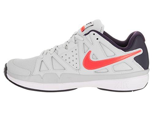 Nike Heren Luchtdamp Voordeel Tennisschoen Puur Platina / Totaal Karmozijnrood