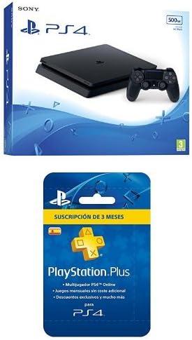PlayStation 4 Slim (PS4) - Consola de 500 GB + PSN Plus Tarjeta 90 ...