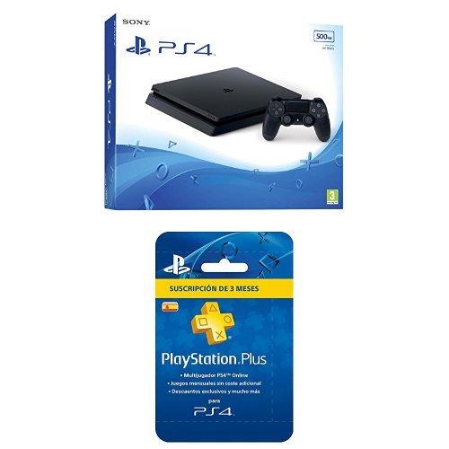 PlayStation 4 Slim (PS4) - Consola de 500 GB + PSN Plus ...