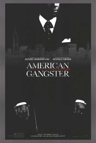 American Gangster Movie Poster 2 Sided Original Denzel 27X40