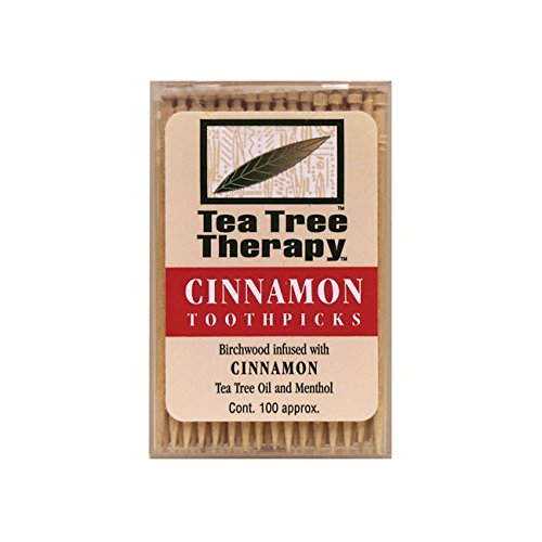 Price comparison product image Tea Tree Therapy Toothpicks, Cinnamon, 100 Count