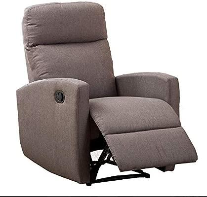 SuenosZzz Confort MAX Sillón Relax con Reclinación Manual, Relleno Color Tierra, Sillón Tapizado