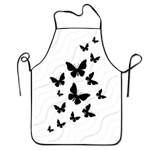 Butterfly Bib Apron For Women And Men - Adjustable Neck Strap - Restaurant Home Kitchen Apron Bib For Cooking, Grill And Baking, Crafting, Gardening, BBQ
