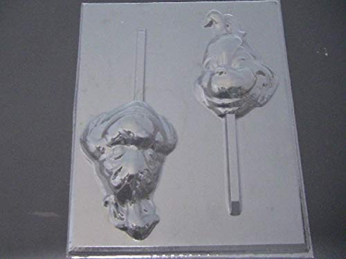 Grinch Face Chocolate Candy Lollipop Mold -