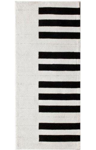 Piano White Rug (Rugs USA Keno Kids Piano Area Rug, 3-Feet by 6-Feet, White)