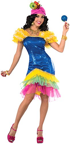 Cha Dancer Halloween Costume (Forum Novelties Women's Cha-Cha Costume, Multi,)