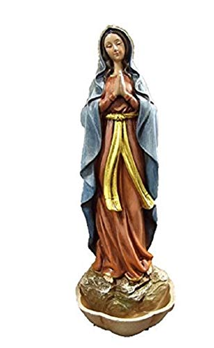 (Joseph Studio Roman Inc Renaissance Collection Madonna Rosary Holder Our Lady of Lourdes Holy Water Font 66326)