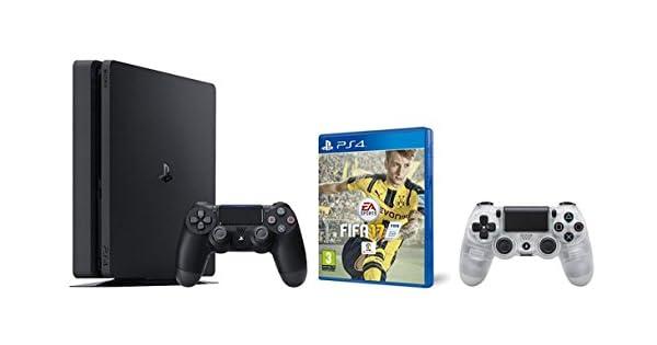 PlayStation 4 Slim (PS4) 1TB - Consola + FIFA 17 + Mando adicional DualShock 4 Crystal: Amazon.es: Videojuegos