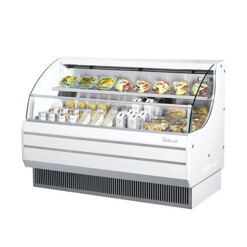 TOM60L 63 Low Profile Display Merchandiser with Modern Design Attractive Glass Sides Environmental Friendly Refrigeration System Standard Back-Guard and Anti-Rust Coating: White