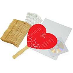 Cathy's Concepts DIY Heart Fan Program Paper Kit Diy Heart Fan Program Paper Kit