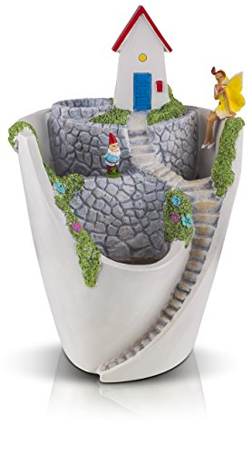 - Fairy Garden House Planter Pot for Succulents with Miniature Fairy, Gnome & 2 Fish - Great Gift for Girls