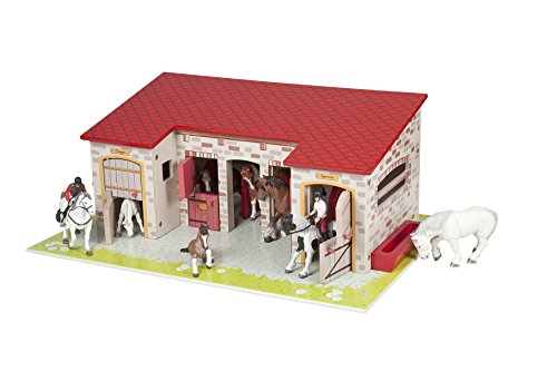 Papo The Stable, Wooden Horse Barn - Large Wooden Horse Barn
