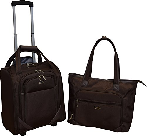Kemyer Computer Underseater and Tote (2 Piece), (Laptop Tote Chocolate)