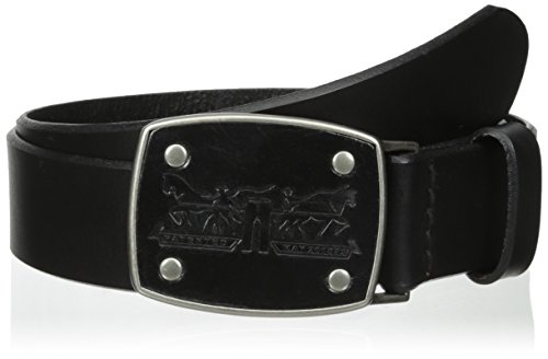 Leather Logo Buckle Belt (Levi's Men's Levi Belt with Leather Inlay Logo Buckle)
