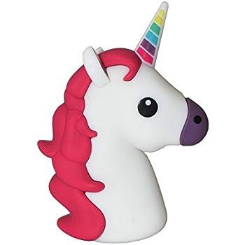 Amazon.com: New 2600mah Unicorn Shaped Emoji Cute Funny ...