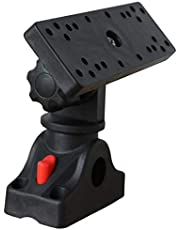 Wobekuy Universal Marine Electronic Fish Finder Mount Fishfinder GPS Plate Rotating Boat Supporter