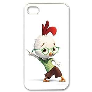 iPhone 4 4s white phone case Chicken little Disney Maverick Fantasy Funny Terror Tease Magical YHNL797892441