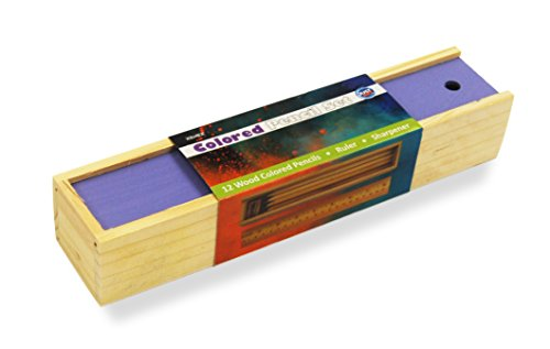 Xonex Colored Pencil Set with Ruler, Sharpener and Wooden Sl