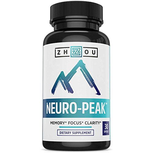 Natural Brain Function Support - Memory, Focus & Clarity Formula - Nootropic Scientifically Formulated for Optimal Performance - DMAE, Rhodiola Rosea Extract, Bacopa Monnieri, Ginkgo Biloba & More
