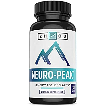Premium Brain Function Support - Memory, Focus & Clarity Formula - Nootropic Scientifically Formulated for Optimal Performance - DMAE, Rhodiola Rosea, Bacopa Monnieri, Ginkgo Biloba & More