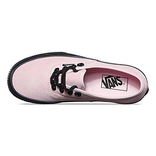 Skåpbilar Autentiska Plattform (präglade) Mode Sneakers Krita Rosa / Svart Storlek 6,5 Män / 8 Kvinnor