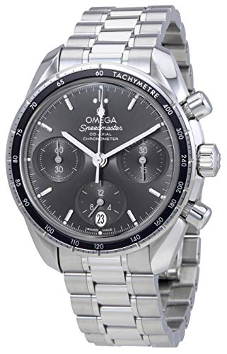 Omega Speedmaster Co-Axial Grey Dial Automatic Mens Chronograph Watch 324.30.38.50.06.001