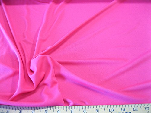 Discount Fabric Polyester Lycra  Spandex 4 Way Stretch Solid Perfect Pink Ly935