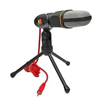 Japace® SF-666 Condensador profesional de sonido Podcast Studio micrófono para PC / Ordenador portátil Skype MSN con Soporte: Amazon.es: Electrónica