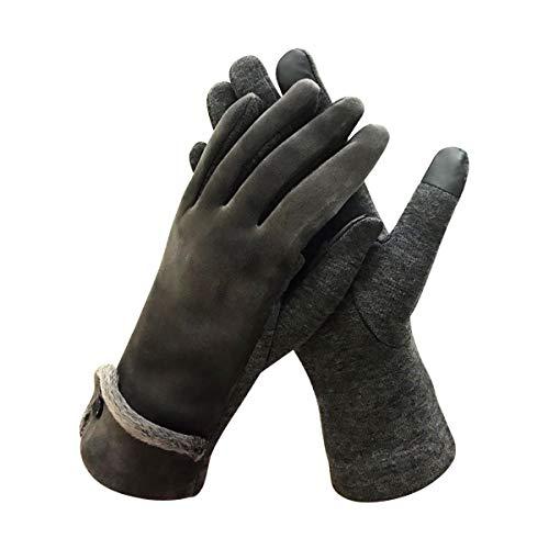 Aadent Womens Touch Screen Phone Fleece Windproof Gloves Winter Warm Wear Windproof in Cold Weater Lightweight For Women (Black)