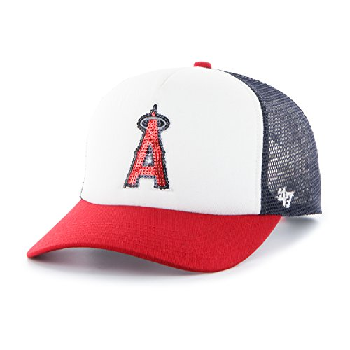 '47 MLB Los Angeles Angels Women's Glimmer Captain Adjustable Snapback Hat, Navy