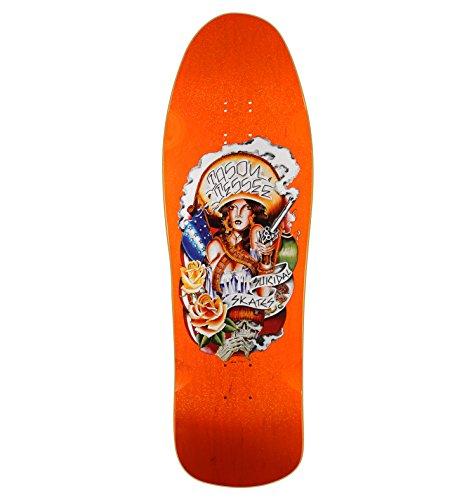 Suicidal Skates Jason Jessee Reissue Orange Metallic Old School Skateboard Deck - 10